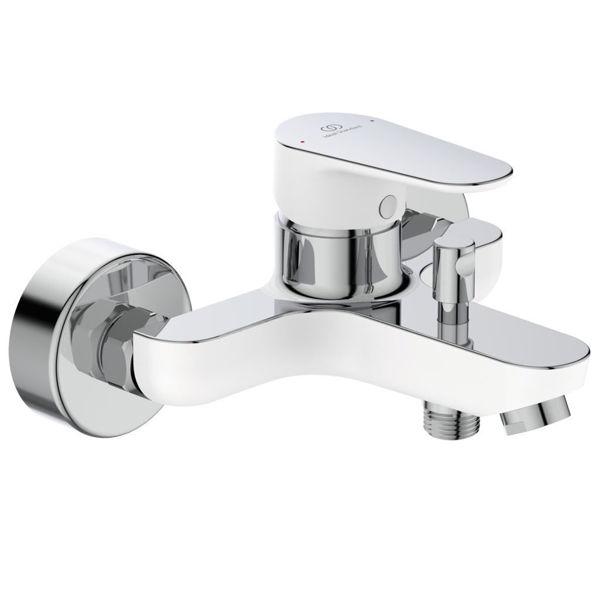 Снимка на ВС157НО Смесител TYRIA за  вана/душ стеннен бял мат/хром
