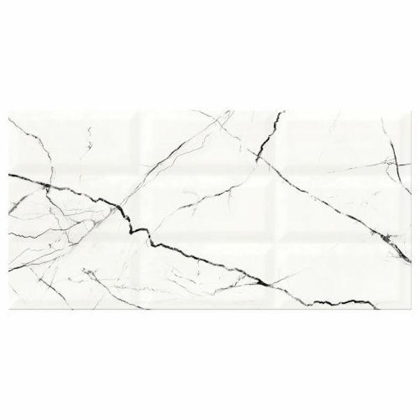 Снимка на Декор 29.7/60 Arce White Structure Glosssy