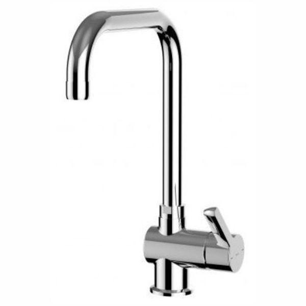Снимка на A5A847AC0K Saona Смесител за кухненска мивка, висок, с въртящ се чучур